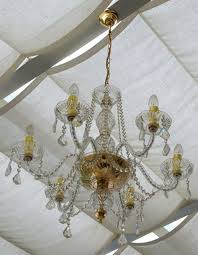 spray cleaning a chandelier works well if it is done often enough