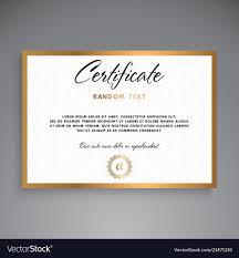 Certification Template Professional Certificate Template Design Vector Image