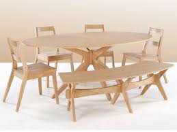 lpd malmo 190cm white oak round dining table and 4 chairs