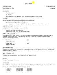 Babysitter Resume Template Adorable Babysitting On Resume Example Babysitting Resume Template Example Of