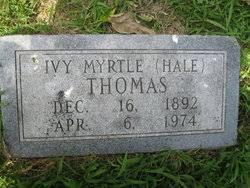 "Ivy Myrtle ""Igy"" Hale Thomas (1892-1974) - Find A Grave Memorial"
