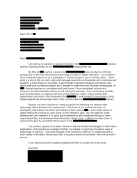 Community College Instructor Cover Letter Sample Adriangatton Com