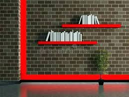 black shelves on brick wall putting in empty wood old d grunge attaching floating to install
