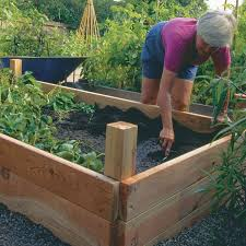above ground garden box. you can build this 4x8 raised bed with basic carpentry skills (see the instructions on above ground garden box d