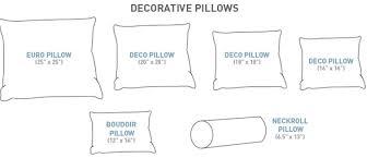 jumbo pillow size. Interesting Jumbo Common Decorative Pillow Sizes Inside Jumbo Pillow Size