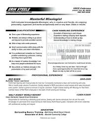 Bartender Resume Example Impressive Bartenders Resume Example Bartender Resume Template What Should A