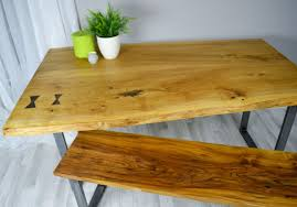 Redwood Slab Dining Table Slab Dining Table Etsy