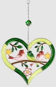 Hängedeko Aus Tiffanyglas Herz Grün Rosa Fensterdeko 26 Cm Lim Boxde