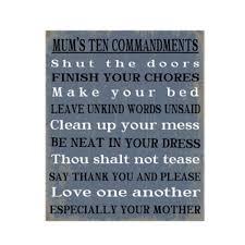 mums commandments wall art
