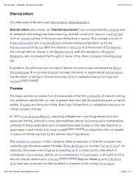 Eternal Return Wikipedia Metaphysics Física Y Matemáticas