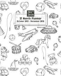 15 Months Planner October 2017 December 2018 Monthly Calendar