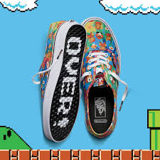 vans nintendo shoes. authentic with nintendo super mario tie dye pattern vans shoes
