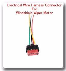5 wire harness pigtail connector for windshield wiper motor fits image is loading 5 wire harness pigtail connector for windshield wiper
