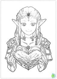 Legend Of Zelda Coloring Pages Link And Zelda Coloring Page Free