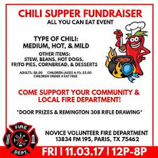 chili supper flyer novice vfd to have chili supper theparisnews com news