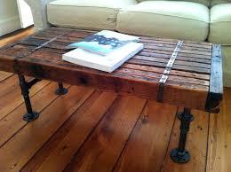 wood coffee table with metal legs furniture rustic reclaimed wood coffee table with black metal legs