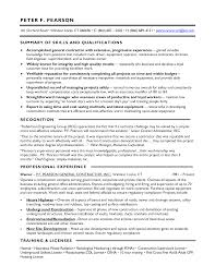 resume contractor free general contractor work resume templates at