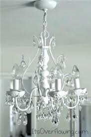 how to clean crystal chandelier without taking it down chic chandelier makeover white paint and washing