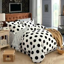 red polka dot double duvet cover black and white polka dot bedding set 100 cotton new
