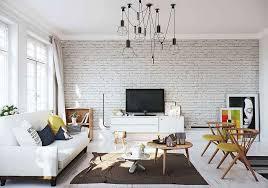 scandinavian apartment in white