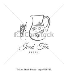 iced tea clipart black and white.  White Iced Tea  Csp27755782 On Tea Clipart Black And White I