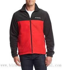 men apparel columbia steens mountain full zip colorblock fleece jacket black red charcoal heather
