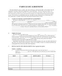 Free Simple Lease Agreement Form Impressive Farm Lease Template Sample Land Lease Template Farm Lease Agreement