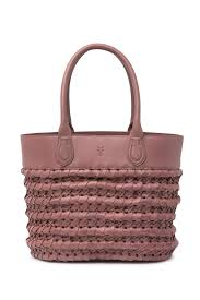 image of frye woven leather tote