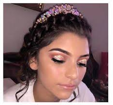 makeupmonday check out this princess slaying for her quince cinderella makeup quinceanera hairstyles