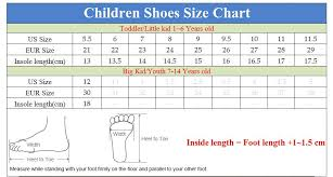 Kid Shoe Size Us China Kids