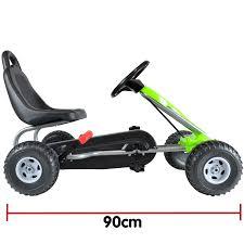 bopster Green <b>Pedal Go Kart</b> with Hand Brake and <b>Adjustable</b> Seat ...