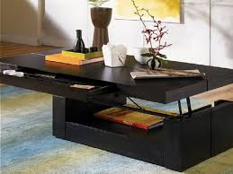 modern style home decor with single slide narrow storage drawer and contemporary coffee table from