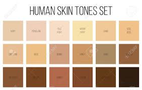 Skin Tone Color Chart Creative Vector Illustration Of Human Skin Tone Color Palette