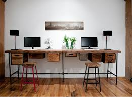 long office desk. How Make Long Work Table Design For Your Dining Ideas: Industrial Desk Using Office A