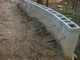 Cinder Block Retaining Wall