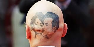 45 сумасшедших татуировок на голове фото