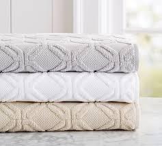 white bath towel. Blakely Sculpted Hydro Cotton Bath Towel - White