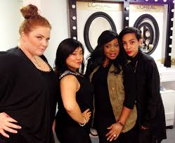 the fabulous makeup artists on set today for the designers of season 10 project runway tiffany hall scarmana christyna kay brandy gomez duplessis