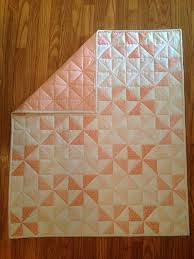 Best 25+ Pinwheel quilt ideas on Pinterest   Pinwheel quilt ... & Coral and Gold Metallic Pinwheel Baby Quilt by Nooches on Etsy Adamdwight.com