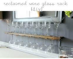 wall mount wine glass holders rack incredible mounted reclaimed australia
