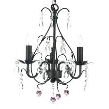 pink plug in chandelier wrought iron and crystal 3 light swag plug in chandelier with pink pink plug in chandelier