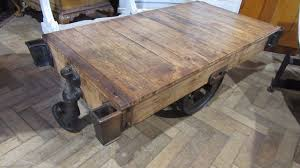 antique industrial peanut trolley coffee table 1 of 6