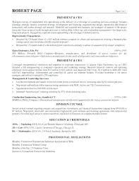 Examples Of Ceo Resumes Ceo Sample Resume Award Winning Resume