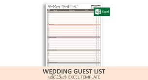 Wedding Guest List Template Excel Download Peachy Wedding Guest List Excel Template Printable Wedding Rsvp Tracker 30 Categories 900 Guests Instant Digital Download