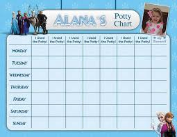 Elsa Potty Training Chart Frozen Potty Chart Potty Training Chart Potty Reward Chart Sticker Chart Customized Personalized Printable Chores Chart