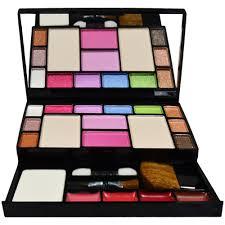tya fashion makeup kit 10 eye shadows palette 4 lip colour 2 pact powders 2