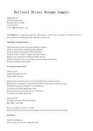 Delivery Driver Resume Examples Delivery Driver Job Description Delivery Driver Resume Sample Ups