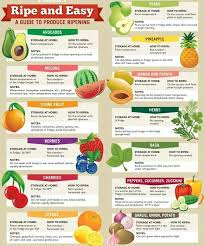 Keto Fruit Chart Fruit And Vegetables Ripening Chart How To Ripen Avocados