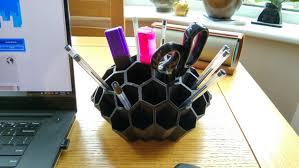 pen holder pencil holder office organizer desk organizer 3d printed mens