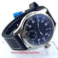 online get cheap blue hand watch men aliexpress com alibaba group 47mm parnis black dial blue luminous 6498 hand winding mens watch mainland